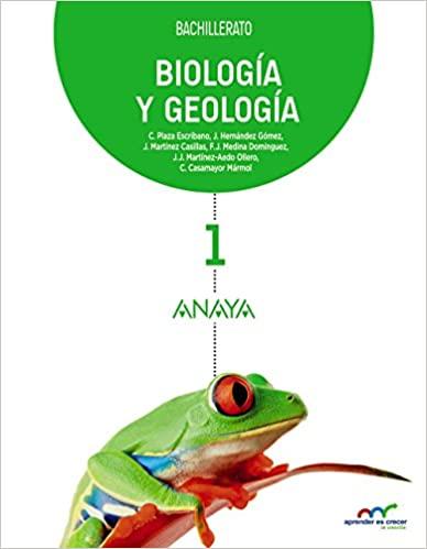 Aprender es crecer en conexión. Biología y Geología. 1º de Bachillerato