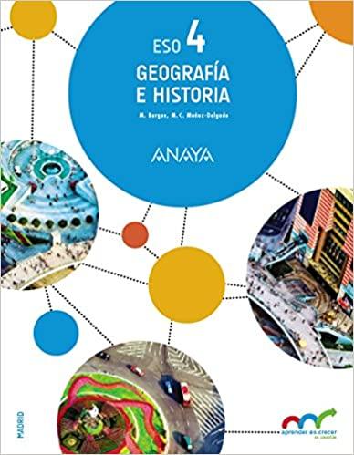 Geografía e Historia. 4º de la Eso. Aprender es crecer en conexión